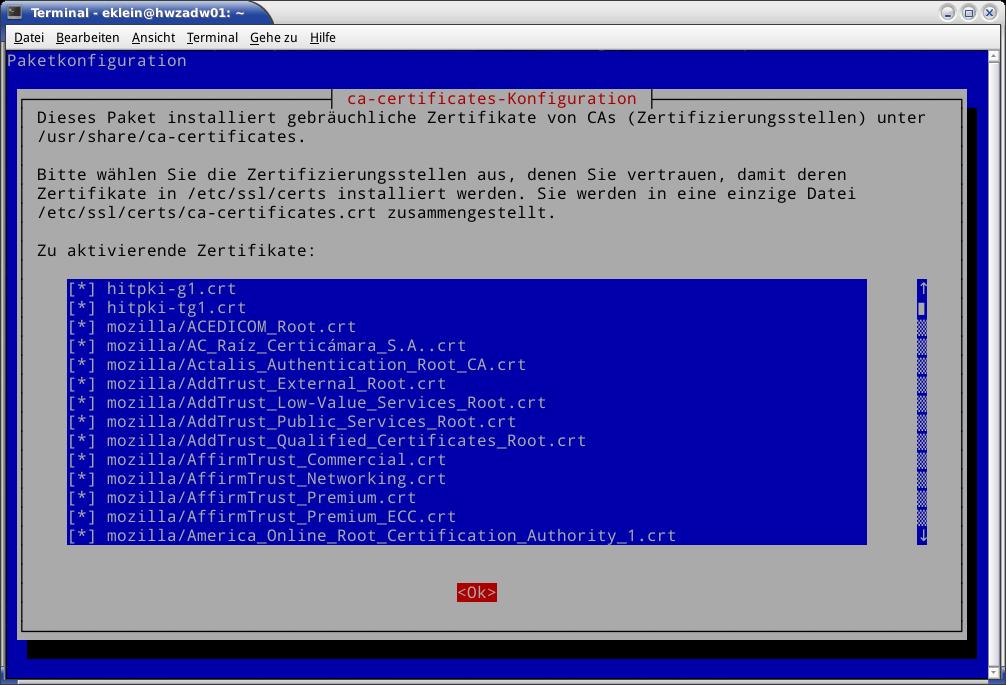 CA in Debian oder Ubuntu einbinden [Hitzigrath]